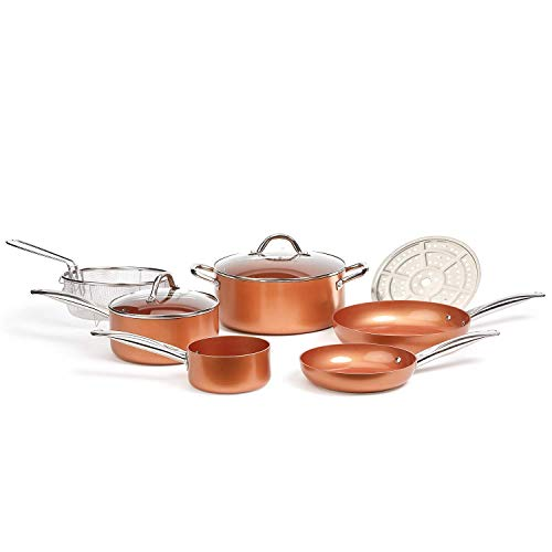 Copper Chef Cookware 9-Pc. Round Pan Set,...