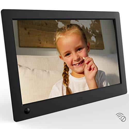 NIX Advance Digitaler Bilderrahmen 10 Zoll. HD IPS Display. Uhr/Kalender. Auto On/Off (Bewegungssensor). Auto Drehung. Intuitive Fernbedienung. Inkl. 8GB USB-Stick