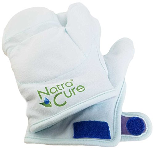NatraCure Arthritis Warming Mittens (Without Gel) - Reusable, Microwaveable Flaxseed Raynauds or Joint Pain Hand Warmer Gloves, for Pain Relief, Stiff Joints, Inflammation) - 466-CAT