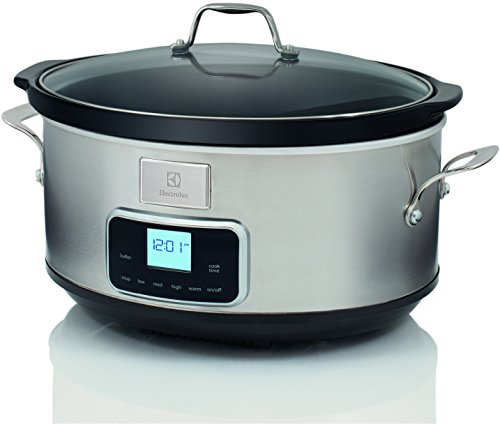 Electrolux ESC7400 Slow Cooker - Pentola Elettrica in Acciaio Inox per Cottura Lenta con 6 Programmi Predefiniti, 235 W, 6.6 lt