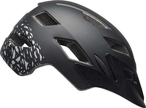 Bell Sidetrack Youth Bike Helmet - Fragments Matte Black/Silver - UY (50–57 cm)