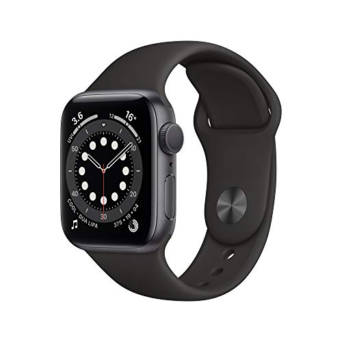 New AppleWatch Series 6 (GPS, 40mm) - Space Grey Aluminium Case with Black Sport Band