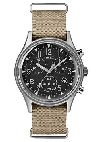 Timex Herren Chronograph Armbanduhr MK1 Aluminum Chronograph mit Nylon Armband