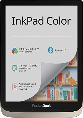 PocketBook InkPad Color - Lector de Libros electrónicos (16 GB de Memoria, 19,8 cm (7,8 Pulgadas), Pantalla a Color Kaleido, iluminación Frontal, Wi-Fi, Bluetooth), Color Plateado