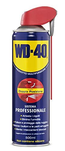 WD-40 Prodotto Multifunzione Lubrificante Spray con Sistema Professionale Doppia Posizione, 500 ml