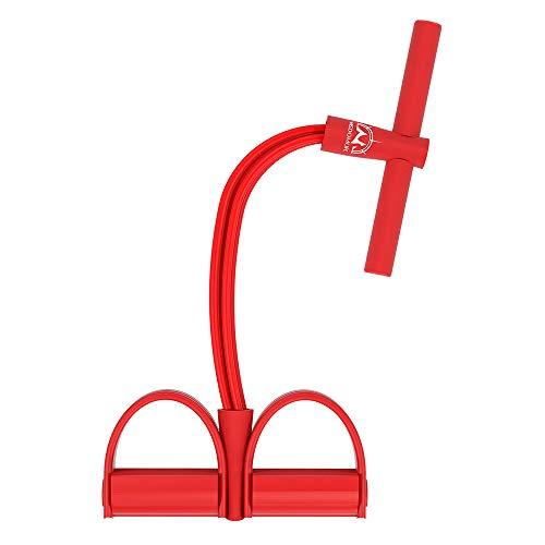 Corda elastica multifunzionale per allenamento con 4 corde, fascia per gambe con pedali, per yoga,...
