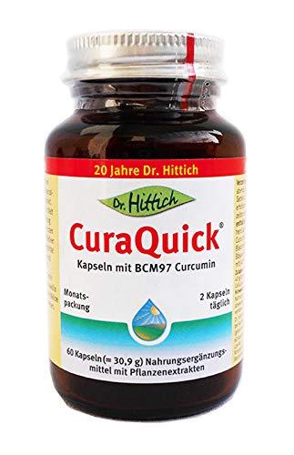 CuraQuick Kapseln - 60 Kurkuma-Gelenk-Kapseln mit Curcumin BCM-95® - Hochdosiert mit Boswellia Weihrauch unterstützt durch AkbaMAX®, einem Weihrauch-Spezialextrakt – Von Dr. Hittich