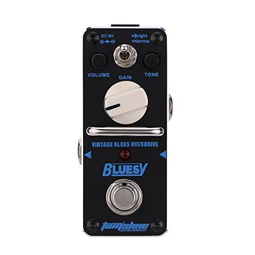 Muslady Bluesy Vintage Blues Overdrive Mini Single Electric Guitar Effect Pedal with True Bypass
