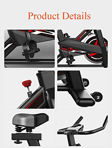 YFFSS Exercise Bikes, Ultra-Quiet Exercise Bike, Home Adjustable Exercise Pedal Spinning Bike, Professional Magnetic Control Indoor Weight Loss Exercise Fitness Equipment 5