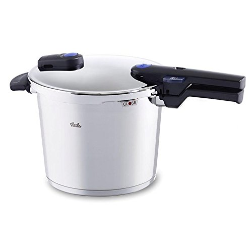 Fissler vitaquick Pressure Coocker Stainless Steel Induction, 6.4 Quart, silver