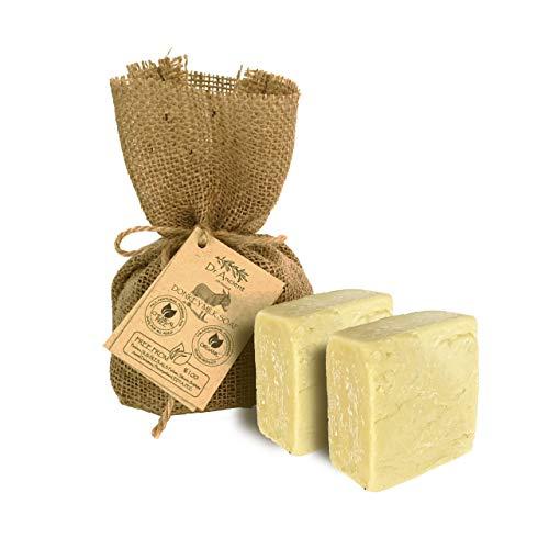 Barra di sapone al latte d'asina naturale organico fatto a mano antico tradizionale - Alleggerimento della pelle anti invecchiamento, idratante - Nessun prodotto chimico, puro sapone naturale!
