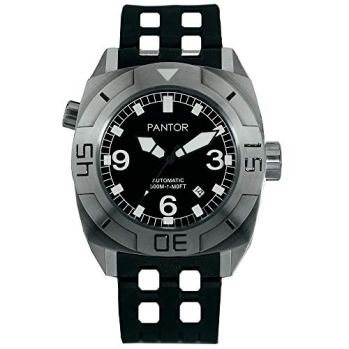 Pantor Seal 500m Pro Diver Watches with Japan Automatic Movement and He-Valve Sapphire Crystal & Rubber Strap