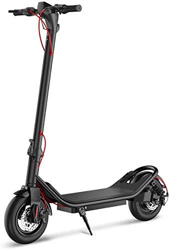 TOEU Trottinette Electrique, Vitesse jusqu'à 25 km/h, 25 km la Longue portée, Moteur de 350W avec écran LCD,Trottinette Adulte Pliable électrique (Black)