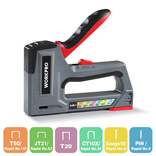 WORKPRO Graffatrice Manuale 6 in 1, Sparapunti/Graffatrice/Pistola per Graffette/Graffettatrice per...