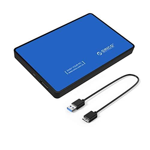 ORICO Case Esterno USB 3.0 per Hard Disk SATA III da 2,5'' per HDD o SSD - Blu