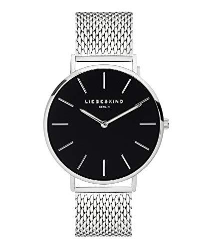 Liebeskind Berlin Damen Analog Quarz Armbanduhr mit Edelstahlarmband LT-0154-MQ