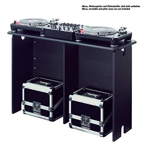 Glorious Mix Station Black  per 2 giradischi o lettori CD e 1 mixer fino a 14', nero