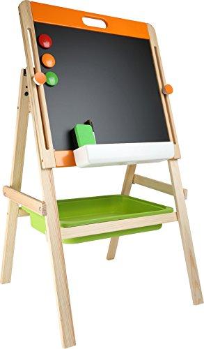 Lavagna per bambini 'Gessetti e calamita', in legno, con gessetti, spugnetta e pennarello, per...