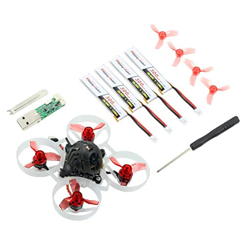 Happymodel Mobula6 1S 65mm Brushless Whoop Drone Mobula 6 BNF AIO 4IN1 Crazybee F4 Lite Regolatore di volo incorporato VTX RC Toy (25000KV,Frsky RX)