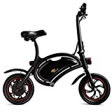 Goplus Folding Electric Bike, 350W Lightweight E-Bike, with 12.5 Mile Range/Max Speed Up to 19 MPH/Cruise Control System/APP Speed Setting, Mini Electric Bicycle Scooter for Adults