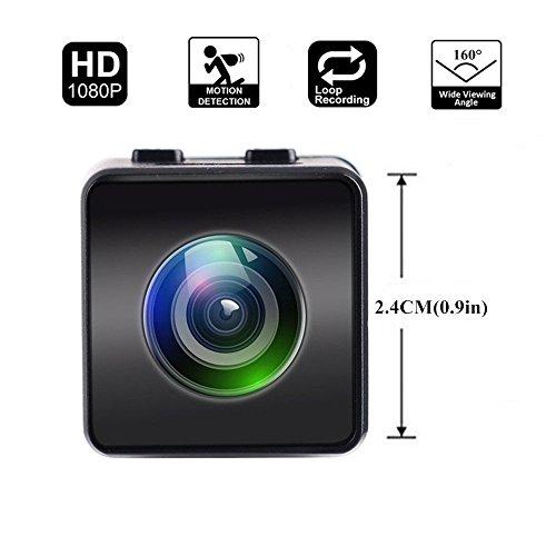 Mini Camera Hawkeye Firefly HD 1080P FPV Micro Action Camera Mini Hidden Spy Cam con DVR FOV160 ° Microfono Incorporato per RC Drone