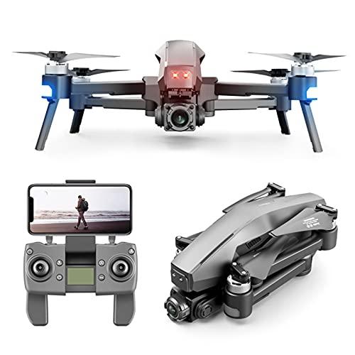 6K GPS Drone con Telecamera HD, Quadcopter Aereo con Telecomando GPS Pieghevole a 2 Assi con Motore Senza spazzole a Lunga Durata della Batteria 60 Minuti di Volo (2 Batterie)