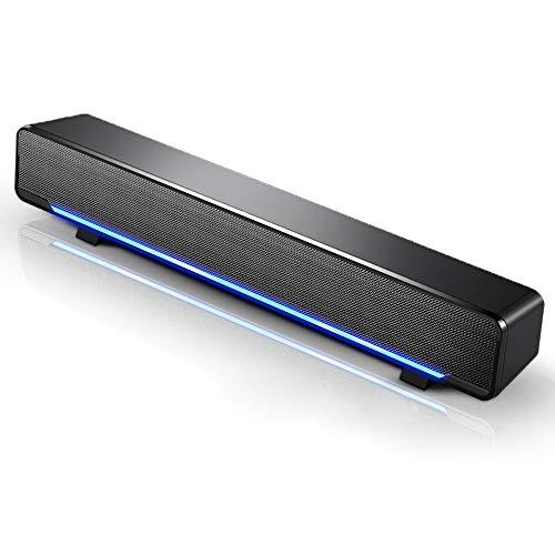 Docooler - Mini soundbar portatile con cavo USB per PC, laptop, TV, MP3, MP4 e altro ancora