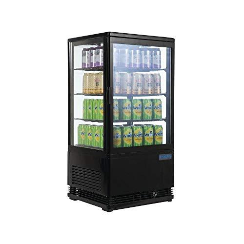 Polar vetrina refrigerata nero da 68l, 885x 428x 386MM commerciale frigo