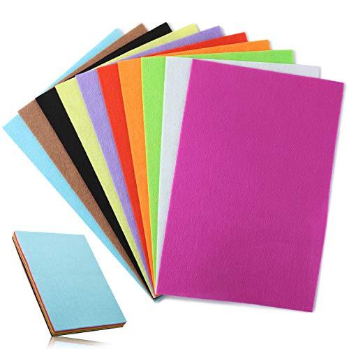 Mr. Pen- Felt, Felt Sheets, 10 Pack, 12 x 8 Inch, Assorted Color, Felt Sheets for Crafts, Felt Fabric, Felt for Sewing, Fleece Fabric, Craft Felt, Felt Squares, Felt for Crafts, Craft Felt, Felt Paper