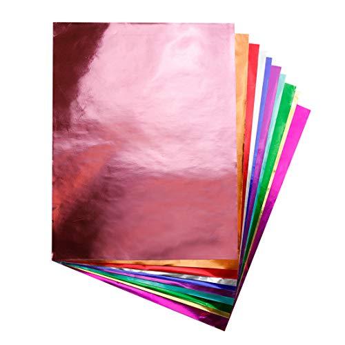 """Metallic Foil Paper Sheets 10"""" x 13""""-40-Pk, Assorted Colors"""