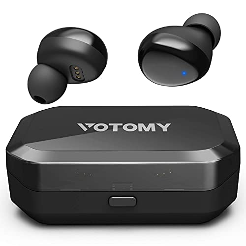 Bluetooth Wireless Earbuds, Votomy Bluetooth Headphones in Ear with Noise Cancellation & Deep Bass, 200H Playtime, LED Display, Touch Control, IPX7 Waterproof, Stereo Earphones w/Built-in Mic