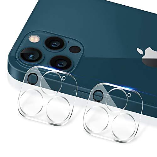 【2枚入り】For iPhone 12 Pro Max 用 カメラフィルム 3眼レンズ保護 カメラ保護ガラス キズ防止 旭硝子製 99%透過率 露出オーバー防止 極薄 耐衝撃 防滴 防塵 装着簡単 レンズ保護フィルム カメラ全体保護