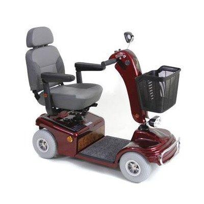 Sunrunner 4 Wheel Scooter Color: Burgundy, Wheels: Solid