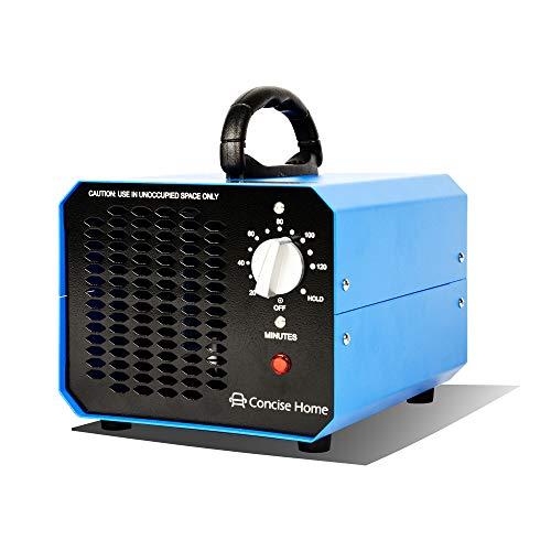 Concise Home Generatore Commerciale di Ozono 7000mg Deodorante Nero Sterilizzatore Industriale O3 per Purificatore d'aria