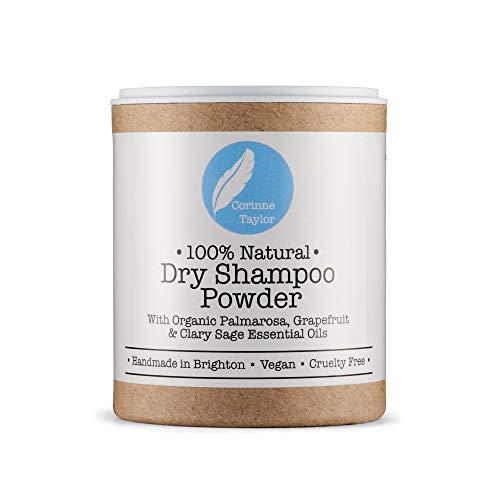 Corinne Taylor Shampoo secco in polvere, 100% naturale, biologico, vegano e non testato sugli animali, 85 g