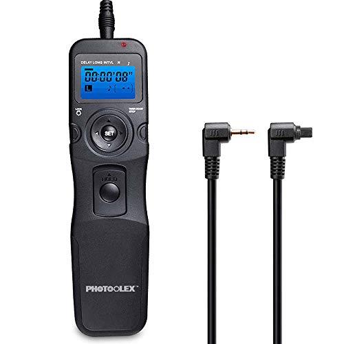 PHOTOOLEX T710C Telecomando Intervallometro Scatto Remoto LCD Timer per Canon EOS 1300D / 1200D /...