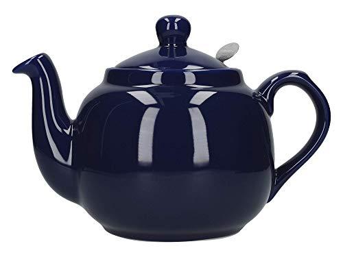 London Pottery Farmhouse Loose Leaf Teapot with Infuser, Ceramic, Cobalt Blue, 4 Cup (1 Litre)