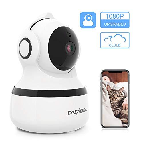Telecamera Wi-Fi Interno, CACAGOO 1080P Videocamera Sorveglianza Interno Wifi con Visione Notturna, Baby Monitor con Audio Bidirezionale e Visione Notturna, Activity Alert, Ruotato
