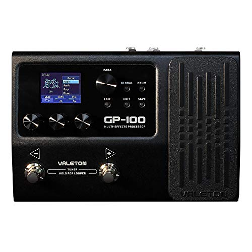 Valeton GP-100 Multi-Effects Processor Guitar Bass Multi Effects Pedal with 140 Built-in Effects 100 Drum Rhythms Amp Modeling IR Cabinets Simulation Looper OTG USB Audio Interface Expression Pedal