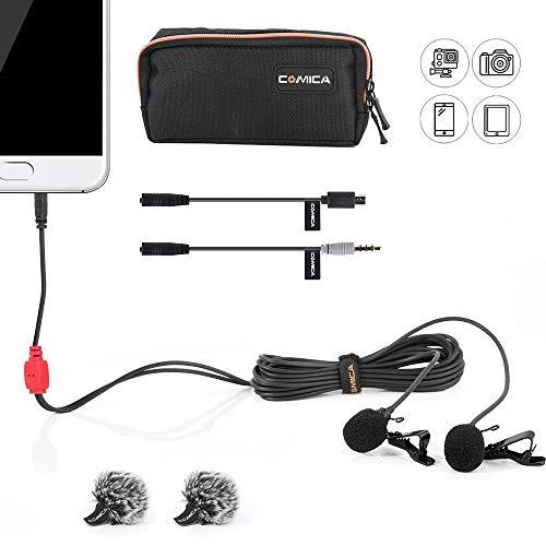 COMICA CVM-D02 Microfono Lavalier Cappuccio Omni-Cavo Mini Clip Youtube Microfono intervista per Canon 5DIII Sony A7RII Panasonic GH4 GH5 Smartphone Apple Iphone6 Iphone7 GoPro3 GoPro4