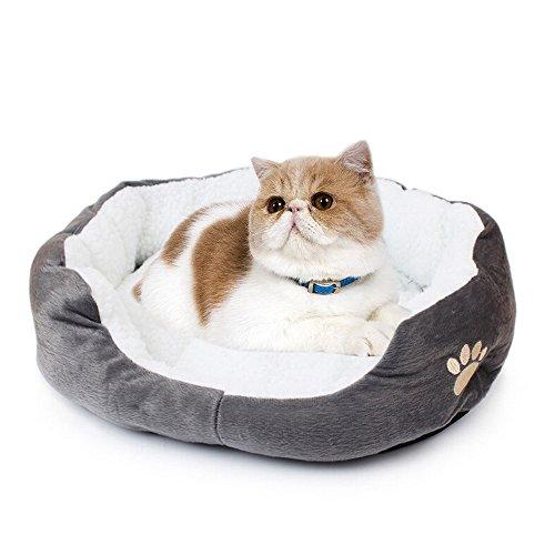 Saflyse - Bella cuccia per animali domestici, per cani e gatti, divano per cani e gatti. Grigio