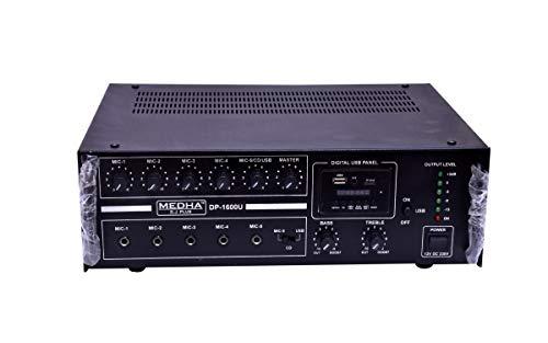 Medha D.J. Plus Professional 160 Watt Power Amplifier With Digital Media Plaer