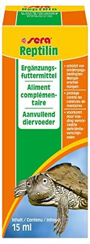 sera 02810 reptilin 15 ml - Multivitamintropfen für Reptilien & Schildkröten - eine schmackhafte Emulsion aus 12 wertvollen Vitaminen zum Auftropfen auf das Futter oder fürs Trinkwasser