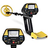 INTEY Metal Detector - High Precision Adjustable Height with Waterproof Coil for Detecting Jewelry, Gold, Silver, Beach Treasures, Metal Detector for Kids and Adults