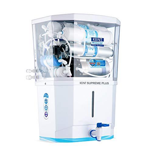 KENT Supreme Plus 2020 (11112), Zero Water Wastage, Wall Mountable, RO + UV + UF + TDS Control + UV...