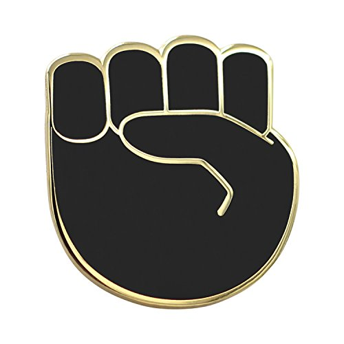 Real Sic Raised Fist Enamel Pin – Black Lives Matter Lapel Pin – Resist Protest Pin – BLM Pin for Jackets, Backpacks, Bags, Hats & Tops