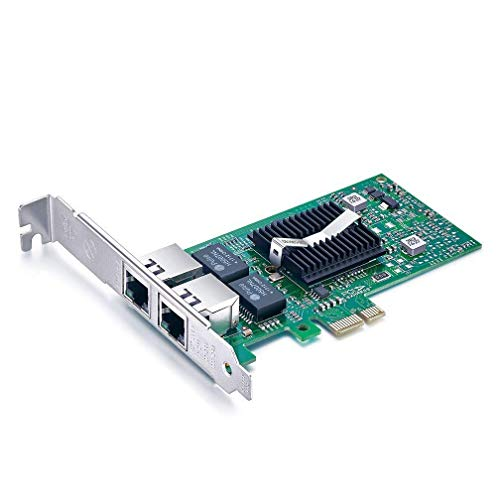 10Gtek® Gigabit PCIE Netzwerkkarte E1G42ET - Intel 82576 Chip, Dual RJ45 Ports, 1Gbit PCI Express Ethernet LAN Card, 10/100/1000Mbps NIC für Windows Server, Win 8, 10, XP und Linux, MEHRWEG