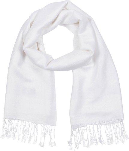 "Sakkas 70\"" X 28\""Paisley Selbst-Design Schal/Wrap/Stola - Weiß"