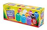 Crayola - 10 pots de peinture lavable - boîte française - Peinture et...
