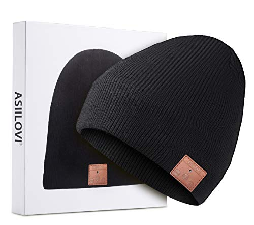 ASIILOVI Bluetooth Beanie, Bluetooth 5.0 Wireless Winter...